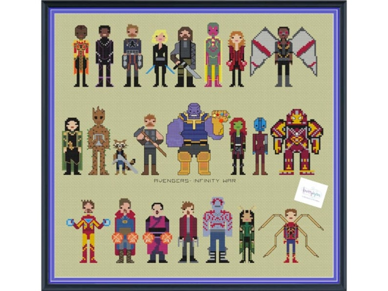 The Avengers Infinity War Unofficial Parody Cross Stitch image 0