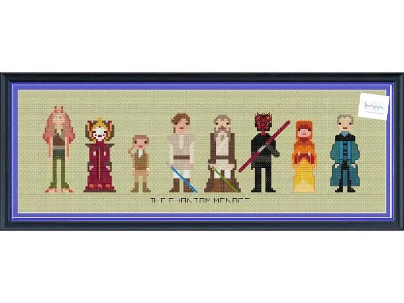 Star Wars The Phantom Menace Cross Stitch DIGITAL PDF pattern image 0