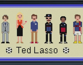 Ted Lasso Unofficial Parody Cross Stitch DIGITAL PDF (pattern only)