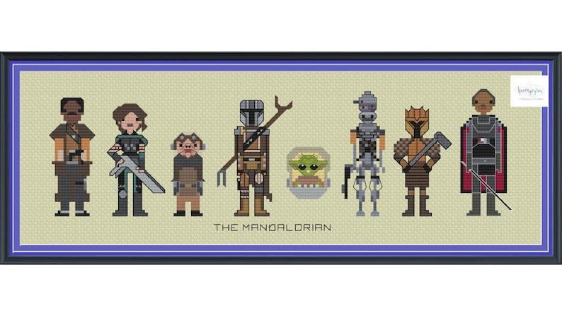 Star Wars The Mandalorian Cross Stitch DIGITAL PDF pattern image 0
