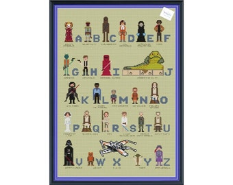 Star Wars Superhero Alphabet Cross Stitch sampler DIGITAL PDF (pattern only) Unofficial Parody Inspired by The Force Awakens