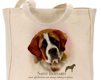 Howard Robinson Animal Artist   Saint Bernard    Canvas Gusseted  Shopper   Reusable bag   Ideal Present   Gift For Dog Lovers