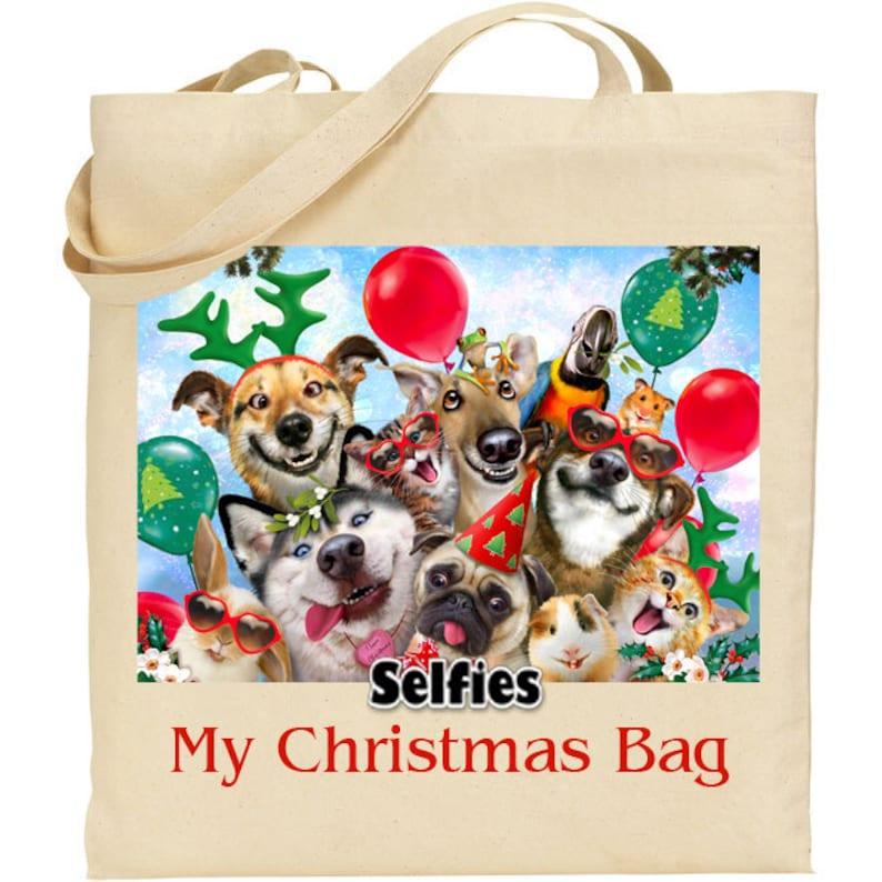 Reusable bag Howard Robinson Animal Artist Christmas Party My Christmas Bag Gift Quality Natural Cotton Shopper Ideal Present