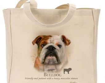 Howard Robinson Animal Artist  Bulldog    Canvas Gusseted  Shopper   Reusable bag   Ideal Present   Gift For Dog Lovers