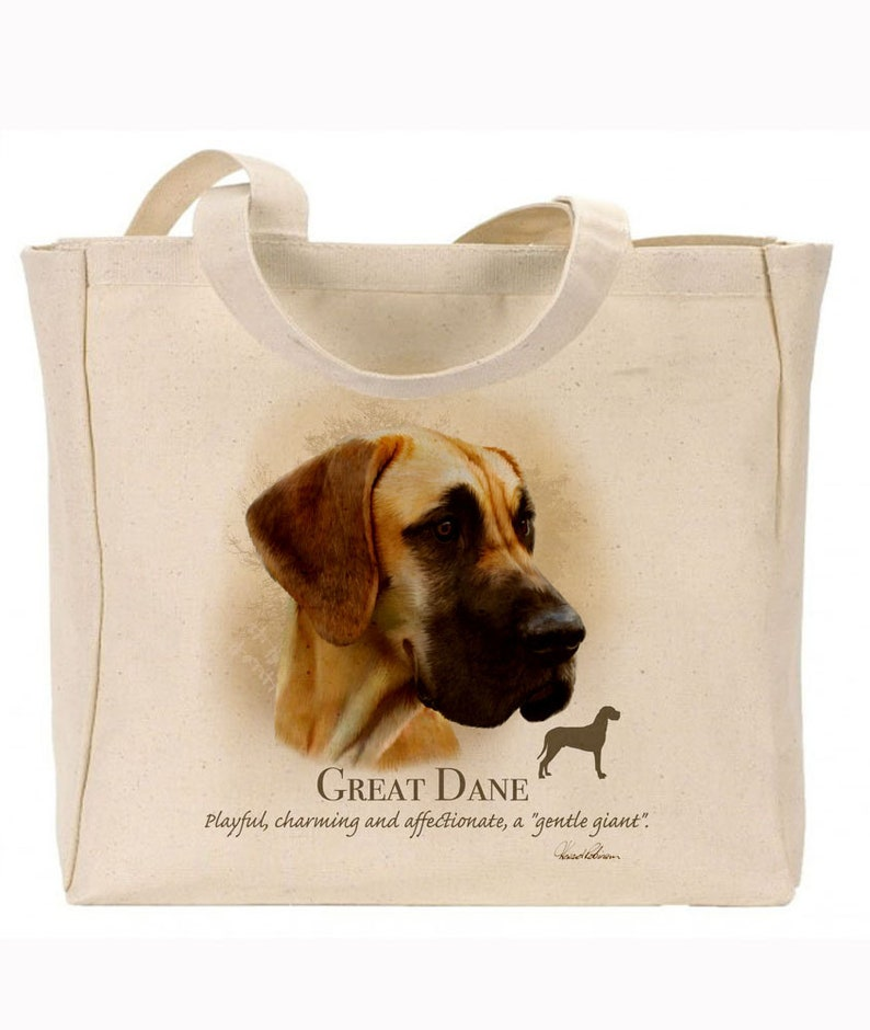 Quality Canvas Gusseted  Shopper Ideal Present Reusable bag Great Dane Gift For Dog Lovers Howard Robinson Animal Artist