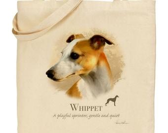 Howard Robinson Animal Artist   Whippet   Quality Natural Cotton Shopper   Reusable bag   Ideal Present   Gift For Dog Lovers