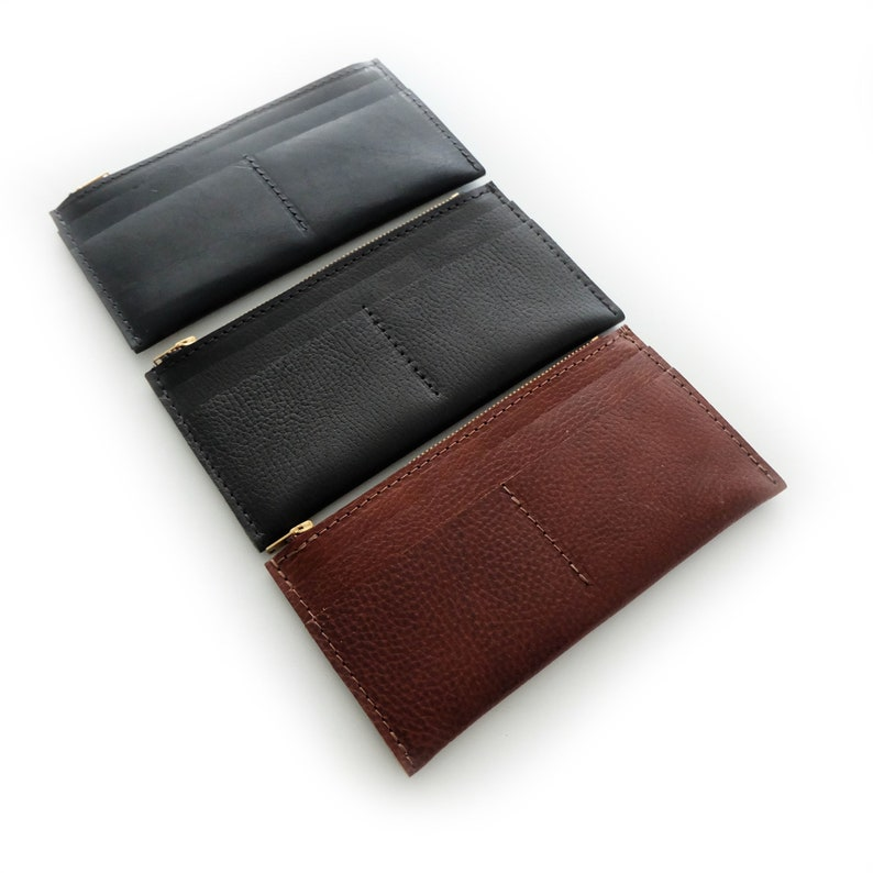 027d3735e7f159 Made-to-order Slim Leather Wallet Slim Wallet Women's   Etsy