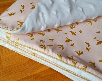 Michael Miller powder pink baby blanket