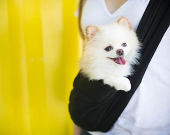 Pet Sling Carrier - Carry your Puppy, Small Dog, Cat, or any Small Pet - Select a Print from Lots of Options -  Includes Safety Strap/Clip