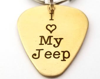 Unique Guitar Pick - I Love My Jeep - Customized Guitar Pick  - Playable Guitar Pick - Gift for Husband - Gift for Wife - Personalized Pick