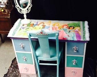 Princess furniture - childrens furniture - kids furniture - girls furniture - pink furniture - kids desk - childrens desk - kids birthday-