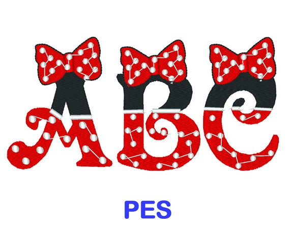 Minnie Mouse Stickmuster Disney PES Format Stickerei | Etsy