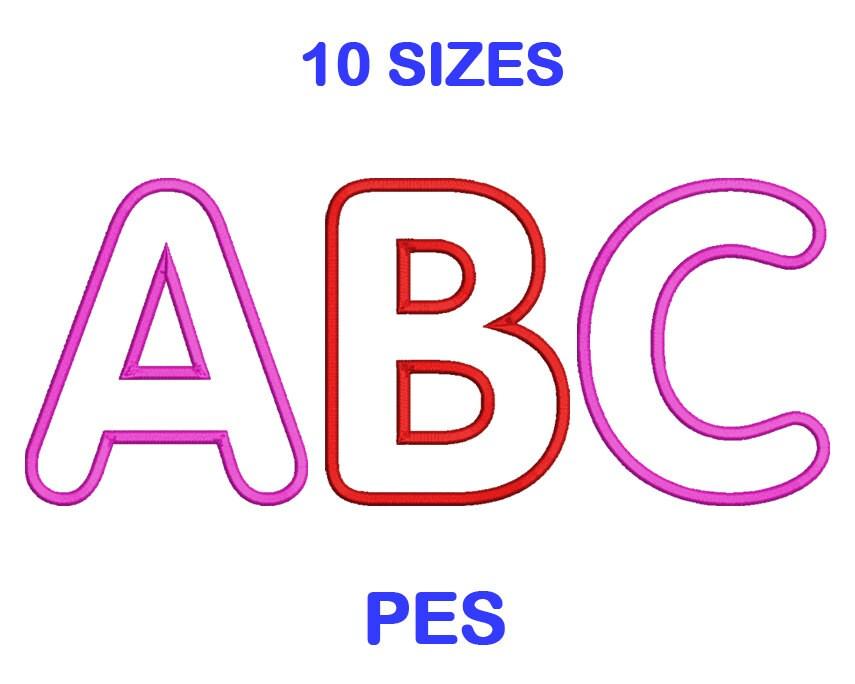 Fuente conjunto tamaño 10 alfabeto de bordados formato PES | Etsy