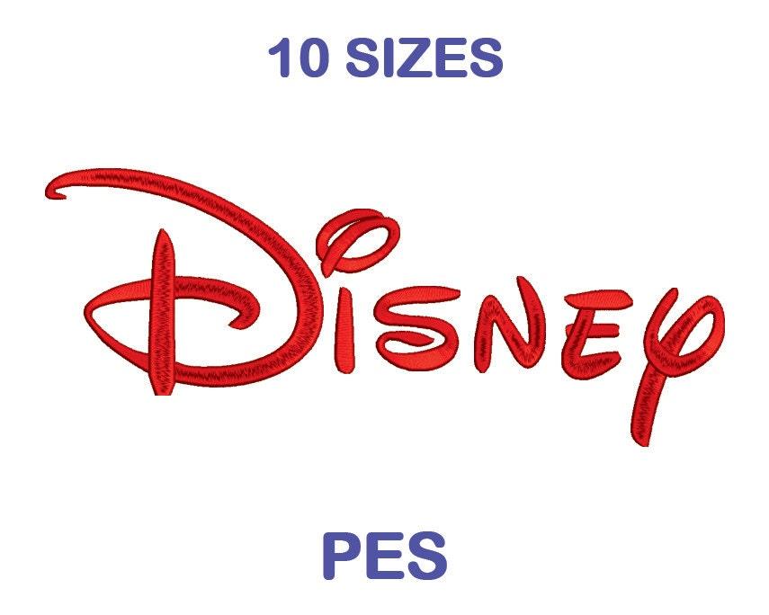 Disney bordado letra tamaño 10 PES formato bordado | Etsy