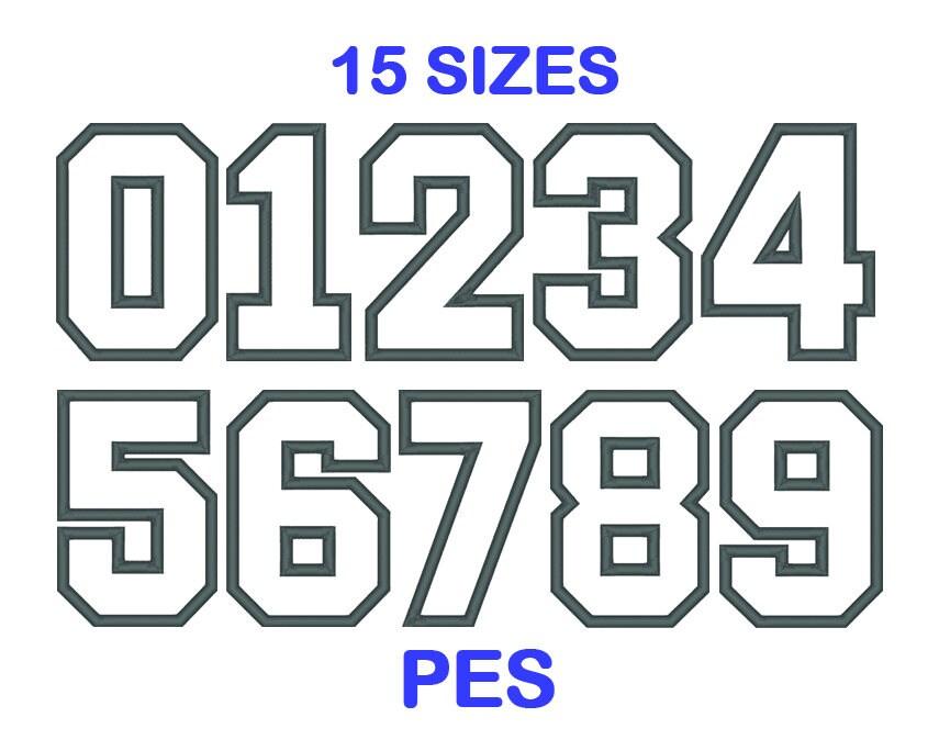 Applique del bordado deportes número Set 15 0 9 máquina de | Etsy