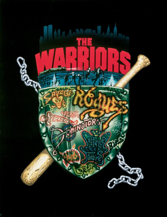THE WARRIORS Movie Poster 1979 Cult Film NYC RARE