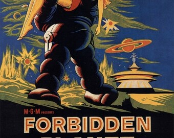 Spring Sales Event: FORBIDDEN PLANET Movie POSTER Rare 50's Horror