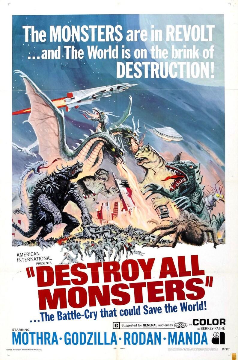 King Kong 1933 Movie Poster Replica Picture Godzilla Megalon