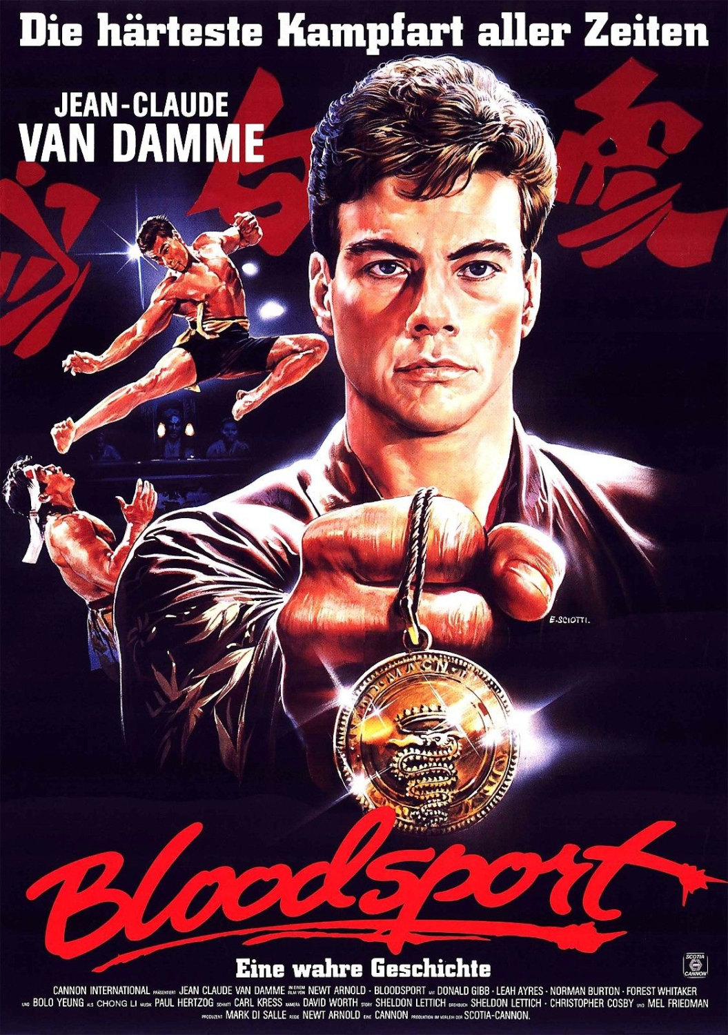 BLOODSPORT Movie Poster Jean-Claude Van Damme | Etsy