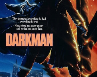 Spring Sales Event: DARKMAN Movie Poster 1990 Liam Neeson Sam Raimi