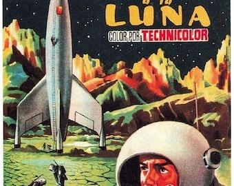 Spring Sales Event: DESTINATION MOON Movie Poster 1950 Sci-Fi Apollo 13