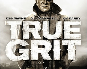 Spring Sales Event: TRUE GRIT Movie Poster RARE John Wayne Western