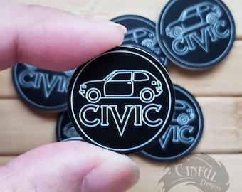 First Generation Honda CVCC Civic Laser Cut Pin