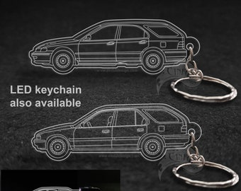 Honda Accord Wagon 4th or 5th Generation Laser Cut Keychain, LED Version Also Available