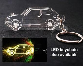 First Generation Honda CVCC Civic Laser Cut Keychain