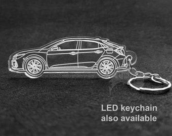 Honda Civic Sport Hatchback Laser Cut Keychain
