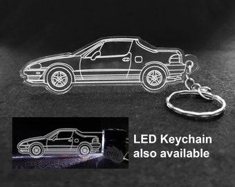 Honda Del Sol Laser Cut Keychain