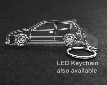 Honda EG Hatch - Laser Cut Keychain