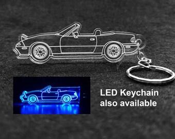 Mazda NA Miata Acrylic Laser Cut Keychain
