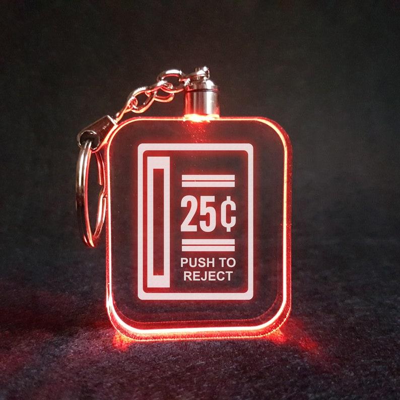 25 Cent Coin Return Arcade Button LED Lamp / Light RGB Laser image 0