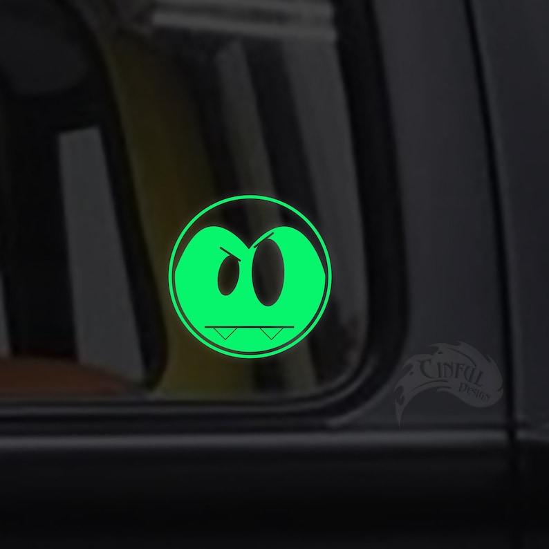 Cute Little Vampire Glow in the Dark Decal / Sticker  Kawaii image 0