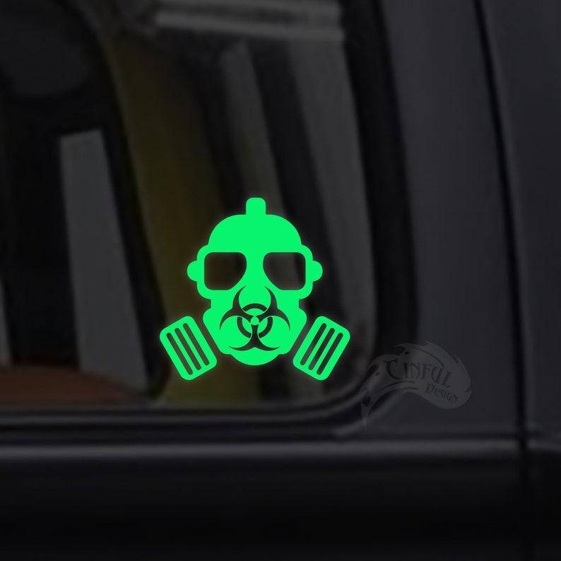 Gas Mask BioHazard Decal / Sticker  Macbook iPad Tablet image 0