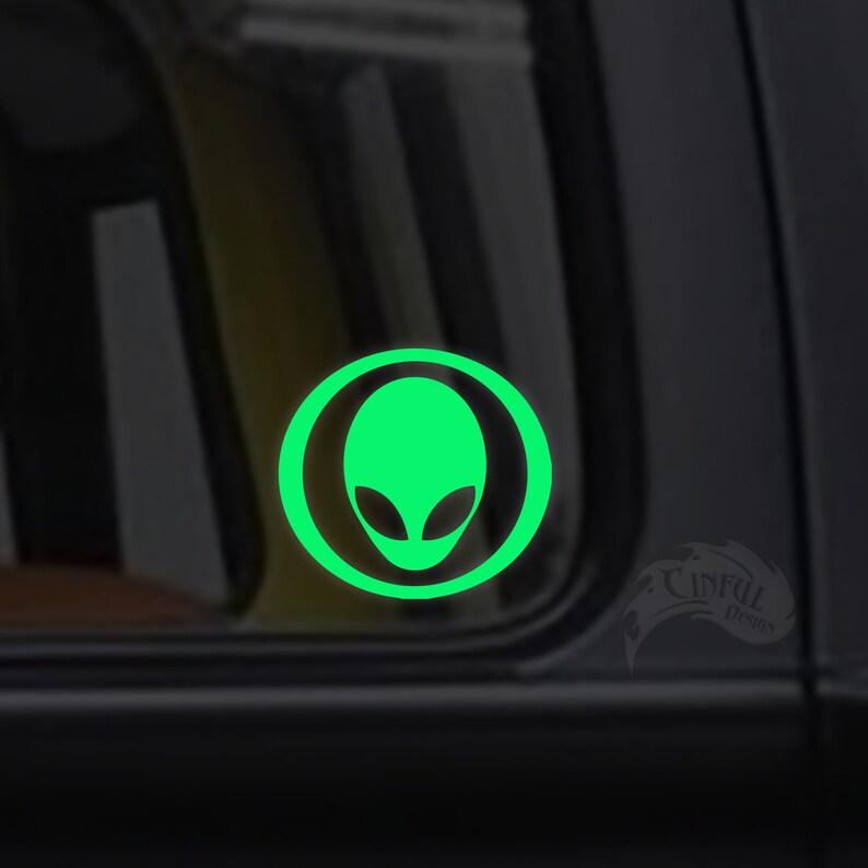 Alien Glow in the Dark Decal / Sticker  Macbooks iPhones image 0