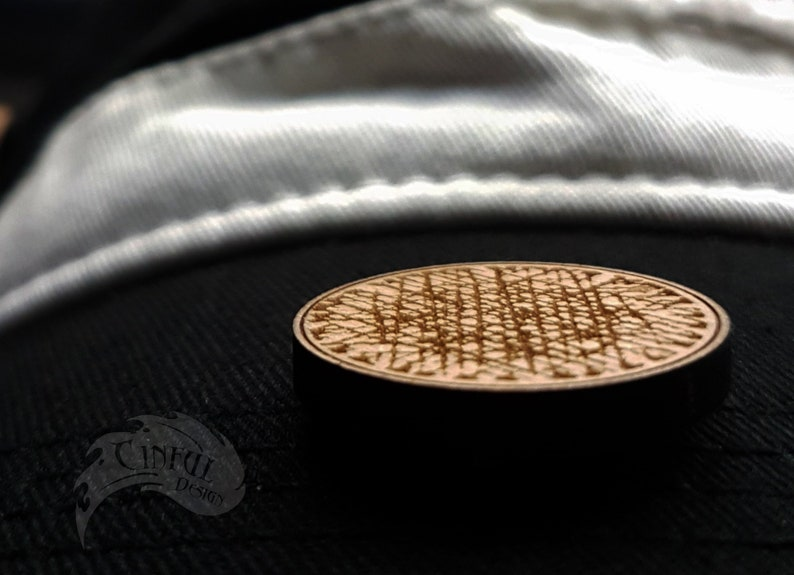 Seconds  Send Nudes Optical Illusion Laser Cut Pin / Magnet image 0