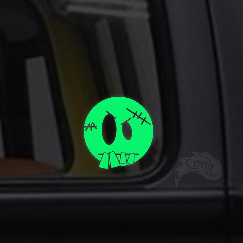 Cute Little Frankenstein Glow in the Dark Decal / Sticker  image 0
