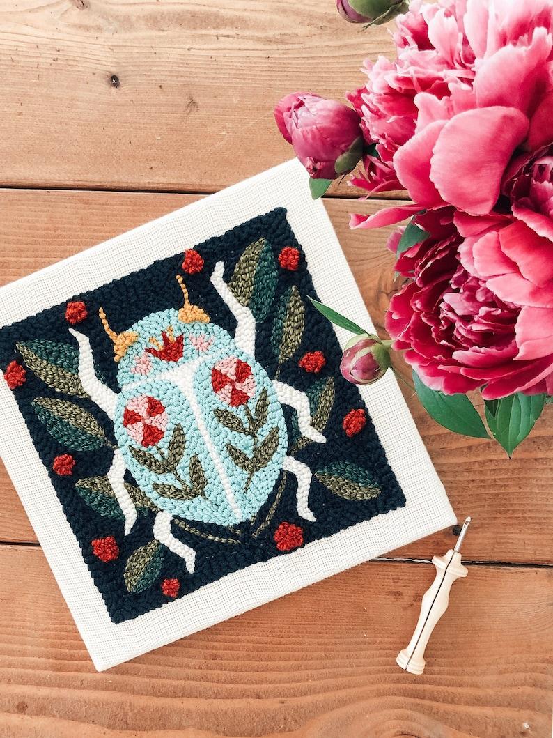 DIY Needle Punch Kit  Spring Beetle Floral image 0