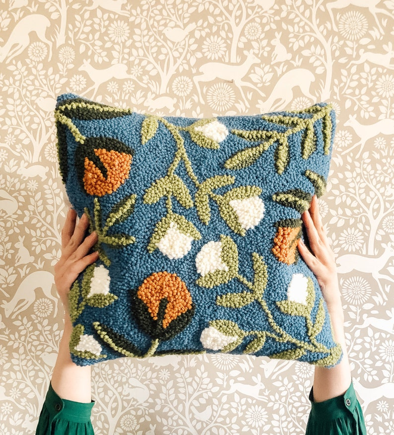 PRE-ORDER DIY Spring Floral Punch Needle Pillow image 0