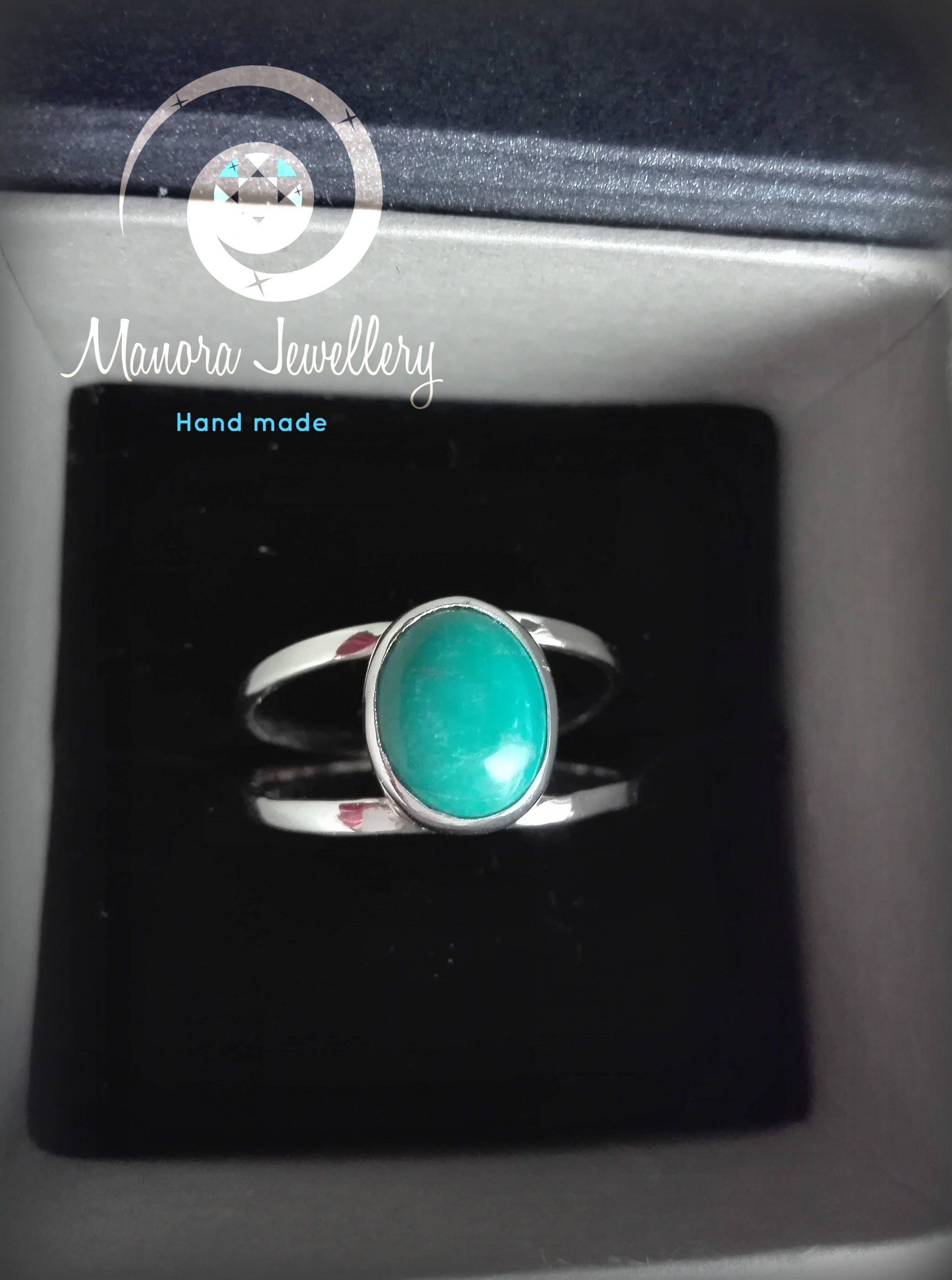 Double Round Wrap Ring Turquoise