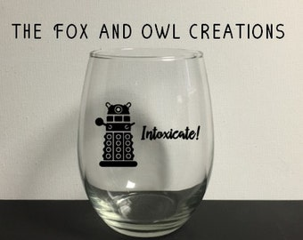 Dr Who Wine Glasses