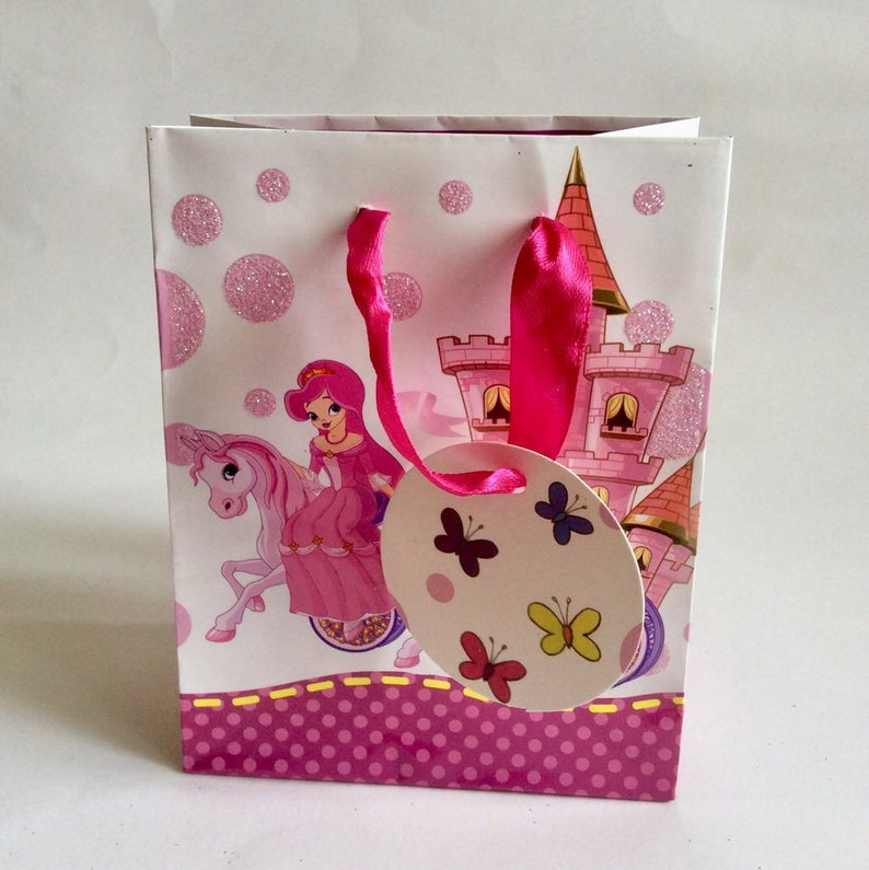 Birthday Girl Kids Gift Bag Childrens Party Pink