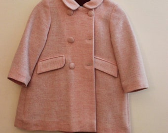 Pink peacoat for girls - Size: 9 Months