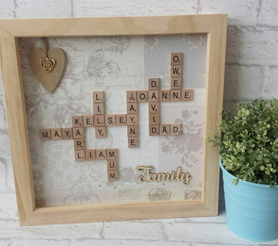 Scrabble Wall Art   Scrabble Family Frame   Scrabble Word Gift   Scrabble  Picture   Personalised Gift Frame From ClairStannardDesigns On Etsy Studio