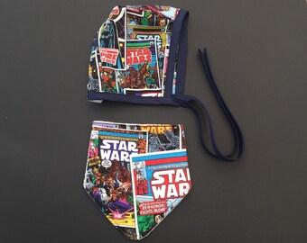 Star wars bonnet and dribble & drool bib