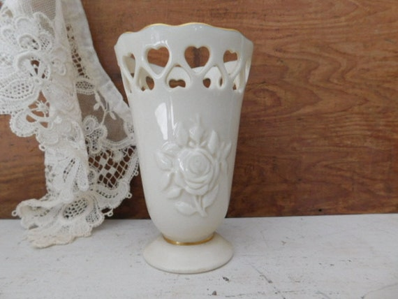 Vintage Lenox Vase Lenox Bud Vase White Porcelain China 24 Kt Etsy