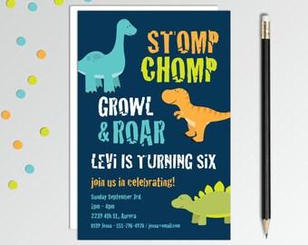 Dinosaur Birthday Invitation - Dinosaur Invitation -  Dinosaur Birthday Party - Dino Party Invitation - Printable Birthday Invitation