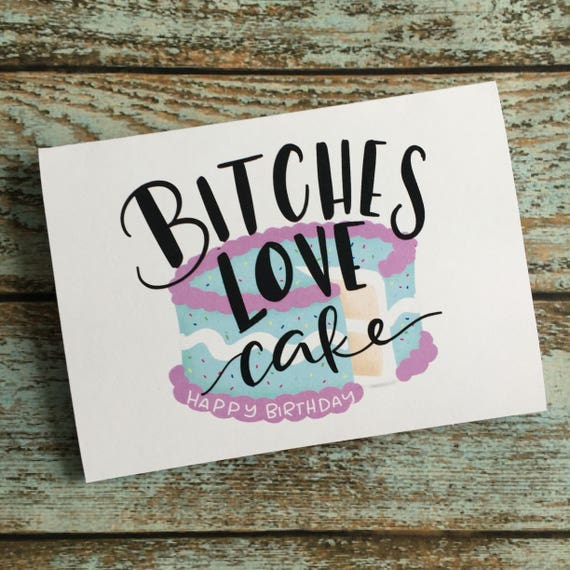 Mature Birthday Cake Lovers Card Adult Birthday Cards Etsy